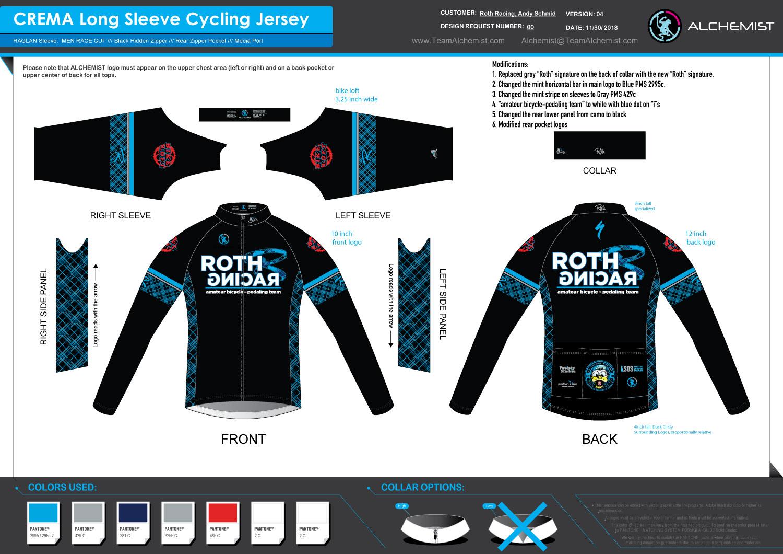 Roth Racing Crema Thermal Jersey - Alchemist Custom Cycling Apparel 4199c4fa4